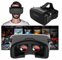 スマホをセットするだけで、臨場感溢れる3DVR体験VR SHINECON 仮想現実 3Dメガネ ヘッドセット