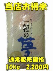 【精白米】28年版当店お得米10kg/規格外商品/返品交換不可商品/ノークレーム、ノーリターン/九州/熊本