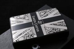 【デザイナーZIPPO サイモン・カーター】ペイズリー&ユニオンジャック ブラック シルバー ジッポ 人気 送料無料 ブランド 黒 銀