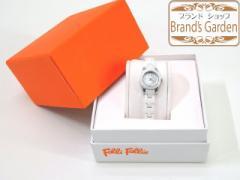 送込★美品♪フォリフォリ レディース セラミック腕時計(WF1 T 012 BP)/[4640]