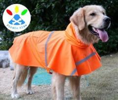 犬 レインコート レインポンチョ 犬用 大型犬 中型犬 小型犬 ペット 雨具 カッパ かっぱ オレンジ