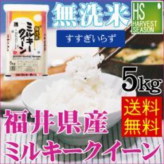 【送料無料】28年産無洗米福井産ミルキークイーン5kg[お米/ご飯/ハーベストシーズン]