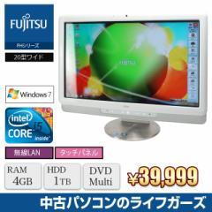 液晶一体型PC Windows7 FUJITSU FH550 Core i5 450M メモリ4GB HDD1TB DVDマルチ 20型ワイド タッチパネル 無線LAN office 中古PC 2517