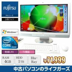 液晶一体型PC Windows7 FUJITSU FH700 Core i5 450M RAM4GB HDD1TB ブルーレイ 23型ワイド 地デジ 無線LAN office 中古PC 2220