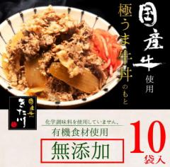 【 国産牛 無添加 】メーカー直送/話題の大人気 極うま 牛丼の具 140g 【 きた川 高級 牛丼 10食 セット 】