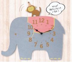 『アニマル振子時計』 掛け時計タイプ ぞう (81533)