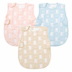 6層ガーゼ くまちゃんスリーパー 出産お祝い ギフト 赤ちゃん 服 ベビー服 6重ガーゼ スリーパー ガーゼ スリーパー