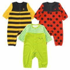 ベビー服 赤ちゃん 服 ベビー カバーオール 男の子 女の子 70 80 ハロウィン なりきり長袖前開きカバーオール