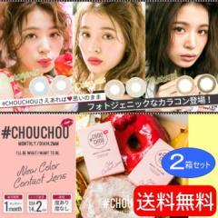 【新発売!送料無料】 カラーコンタクトレンズ 1ヶ月 度あり度なし チュチュ #CHOUCHOU 2箱セット (1枚/1箱)