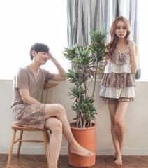 新婚お祝いパジャマ部屋着ペアルックパジャマ夫婦ルームウェア韓流カップル恋人お揃いレディース メンズ キャミワンピ上下セットアップ