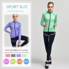 スポーツウェア2点セット スポーツウェア レディース 上下セット 半袖/長袖 Tシャツ 一体型 ショートパンツ レギンス