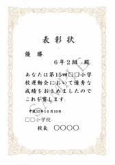 【文面印刷】表彰状・賞状・免状・認定証(標準・縦長・B4)文面自由・印刷してお渡し・書体選択可・オプションで受賞者名シールシート