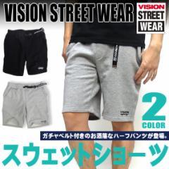 VISION STREET WEAR スウェットパンツ ショートパンツ ヴィジョンストリートウェア ガチャベルト付き VISION-074