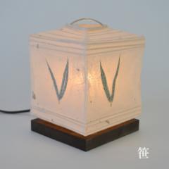 送料無料◆日本製 和紙照明 テーブルランプ SS-3010 笹 (和柄/間接照明) 【インテリア】