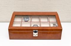◆ウォッチケース DX 10本用ブラウン(贈り物プレゼント、コレクション)