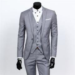 大人気 ビジネススーツ 3ピーススーツ 通勤スーツ スリムスーツ 入学式 成人式 就職 メンズ カジュアルスーツ