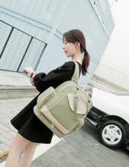 【送料無料】 マザーズバッグ 大容量 リュック 3色 グリーン レッド ネイビー ギフト