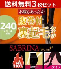 3枚セット SABRINA サブリナ 腹巻き付き裏起毛240デニールタイツ グンゼ