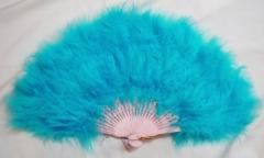 高級羽毛扇子(水色)