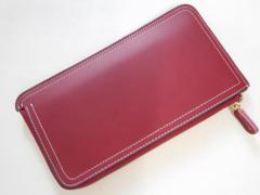 Syoku長財布 ロングウォレット 薄い スマホ財布【 レッド】