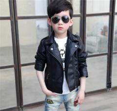 キッズ フェイクレザージャケット アウター ジュニア ライダース ライダースジャケット 男の子 子供服 ブルゾン かわいい