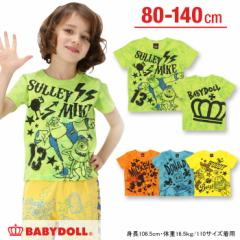 SS_SALE50%OFF 親子ペア ディズニー タイダイ Tシャツ ベビーサイズ キッズ ベビードール 子供服/DISNEY-9328K