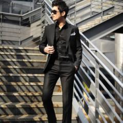 【短納期】スーツ メンズ メンズスーツ ビジネススーツ スリム セレモニー 紳士服 背広 パーティースーツ 大きい