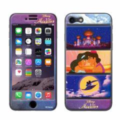 iPhone8 iPhone7 対応 GizmobiesxDisney(ディズニー)】 「Aladdin」 アラジン ジャスミン プリンセス 背面保護シール