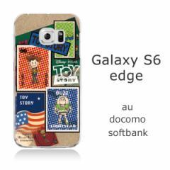 Galaxy S6 edge (SC-04G/SCV31) クリアケース 【Disney/ディズニー】「TOYSTORY/トイストーリー(stamp)」 バズ/ウッディ