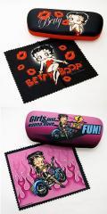【ベティーグッズ】【Betty Boop】【サングラスケース】【メガネケース】【ブラック・キッス】【ピンク・バイカー】
