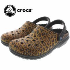 10%OFF クロックス crocs クラシック ラインド グラフィック クロッグ classic lined graphic clog ブラック/エスプレッソ 203592-02B