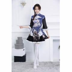 2017最新 着物風 和風 浴衣風 本格的な メイド コスプレ 衣装   衣装 チャイナ ドレス 浴衣風