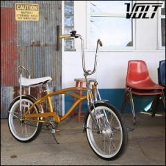 """ビーチクルーザー """"VOLT BICYCLE"""" ゴールド 20インチ オールドスクール 自転車"""