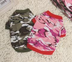 迷彩シャツ Tシャツ 2Color 犬服 ペット服