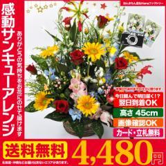 お届けは1月10日から◆ 誕生日 記念日 お祝い 花 ギフト に 感動サンキュー フラワーアレンジメント 送料無料