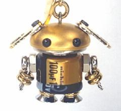 「NANONANO−M08gold」 電子部品を使ったロボットアクセサリー・携帯ストラップ
