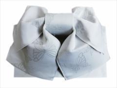 簡単浴衣ゆかた柄結び帯付け帯作り帯オフホワイト色地蝶小桜 巻いてポン 女性用