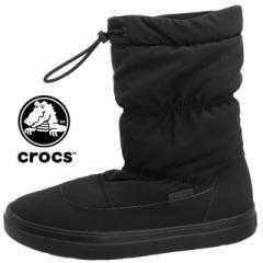 [送料無料]クロックス crocs Lodgepoint Pull-On Boot W 203422-001 ロッジポイント プルオン 防水/防寒 ブーツ 黒 レディース