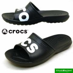 クロックス crocs classic graphic slide 204465-...