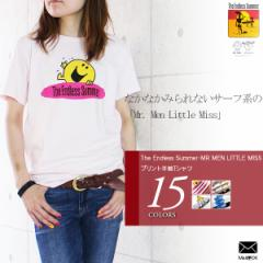 The Endless Summer・MR MEN LITTLE MISS プリント半袖Tシャツ [メンズ/レディース] (m133) [メール便OK]