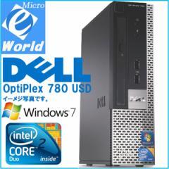 ウルトラ 省スペース Windows 7 送料無料 DELL OptiPlex 780 USD Intel Core 2 Duo-3.0GHz 2GB 160GB