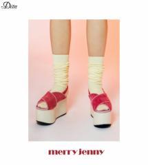 【即納】【SALE】merry jenny【メリージェニー】グリッター厚底サンダル/全3色[SHOE]厚底 レディース 歩きやすい ウェッジ