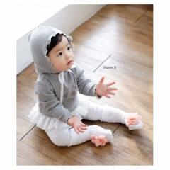 韓国子供服 ベビー フリル水玉ロンパース 帽子つき  kz-kf07031604