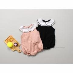 韓国子供服 ベビー 丸襟ロンパース   kz-kf07031608