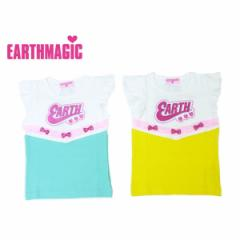 EARTHMAGIC アースマジック 子供服 17初秋 袖フリル付きTシャツ ea37341122