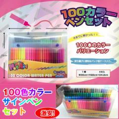 100色カラーサインペンセット (マジックペン,水性サインペン,ケース入り,100カラー,持ち運べるバッグ型ケース付き)