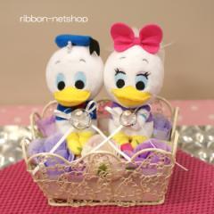 【結婚式】【ブライダル】ウェディングドナルド&デイジーシルクフラワー(造花)リングピロー FL-WG-434