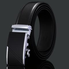送料無料 オートロック式 高級 牛革 使用 ベルト  110cm〜125cm 75