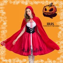 ハロウィン 赤ずきん 衣装 変装 レディース コスプレ衣装 ワンピース ドレス ミディアム丈 膝丈 仮装 女の子 大人用