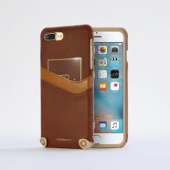 n.max.n New Minimalist Series iPhone8Plus , 7Plus対応 本革縫製ケース 画面カバー(フラップ)無しタイプ 【AP-PH7P-7403】 ブラウン